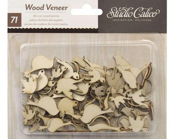 Noted - Wood Veneer Birds