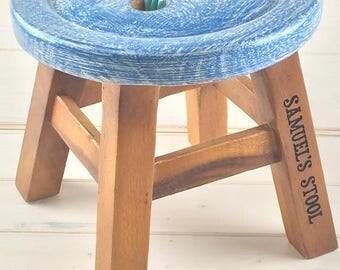 Personalised Stool, Children's Stool, Kids Stool, Personalised Gifts, Nursery, Bedroom Furniture, Playroom, Stool, Wooden Stool