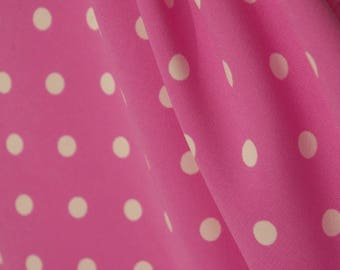 Pink Spot Print Polyester