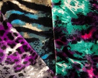Wild Cat Stretch Velour Fabric