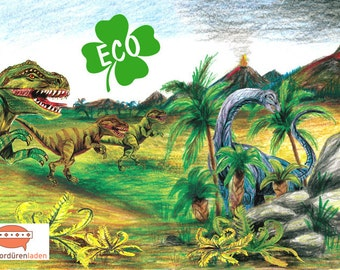 ECO kids trim: prehistoric Dinos-borders for kids, dinosaurs, border for allergy sufferers, wall border, nonwoven, wall trims