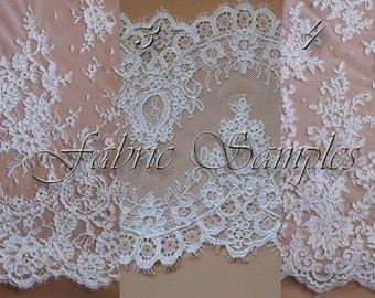 Fabric Samples. Alencon Lace.