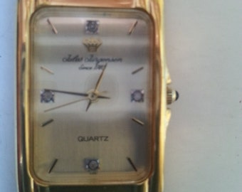 Mens gold tone Jules Jergenson watch