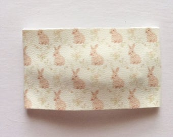 Bunny faux leather snap clip