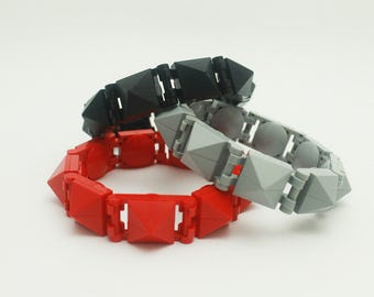 Snap-On Lego Bracelet Series 2 Monochrome - Black/Red/Light Gray/Gold