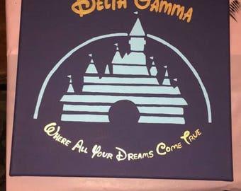 Delta Gamma Disney Canvas