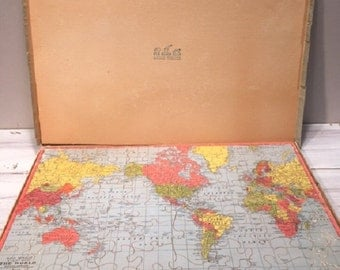 Vintage World Map Jigsaw Puzzle