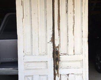 Turn of the 20th Century Exterior Entry Doors--Pair