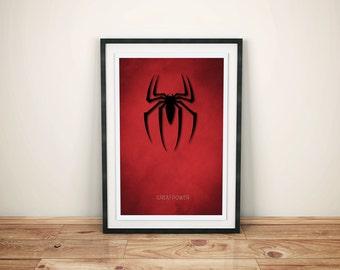 A3 Spiderman Poster - Minimalist Design