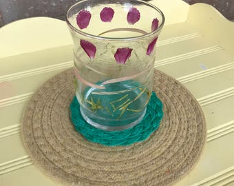 Pressed Flower Glass Candle Holder