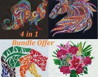 4 Multicolored Designs Bundle Pack