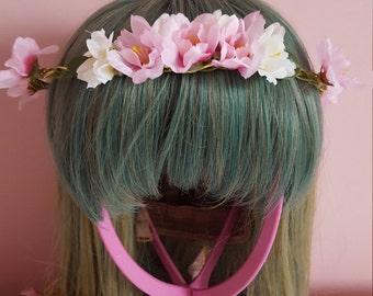 Cherry blossom flower crown