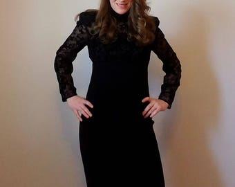 BB Collections Black Velvet Evening Dress