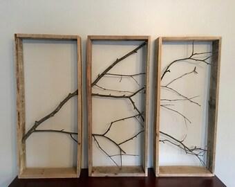 Birch Tree Wall Decor, rustic decor, home decor, wood decor, natural decor, tree branch art, wall art, wall decor, natural wood, wood