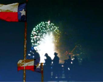 Texas Cowboys and Fireworkd
