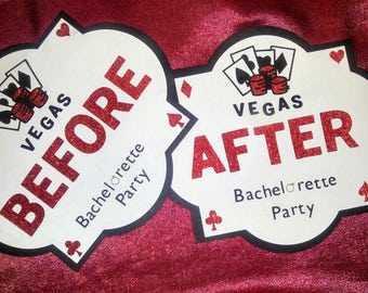 Vegas Before and After Bachelorette Party Signs