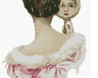 Cross Stitch Chart Lady