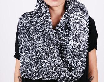 Oversized Snood | Knit Infinity Scarf | Chunky Knit Scarf | Thick Knit | Cotton Snood | Neck Warmer