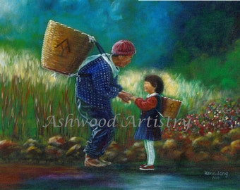 Family, Asian family, China, Mother's Day, China landscape, wall art, Grandparents, outdoors, Generational, love, family love, joy, legacy