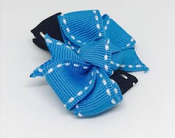 Blue Hair Bow Clip