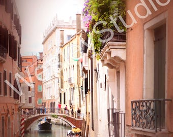 Venice, Italy. Gondola Canal Romantic Photography- spring, summer