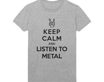 Keep Calm And Listen To Metal Unisex T-shirt Tee 3 Colors S - 4XL
