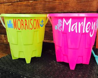 Custom sand buckets!