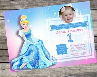 Personalized Disney's Cinderella Invitation- Digital File Only- DIY 5x7