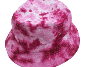 Tie Dye Bucket Hat - Pinks