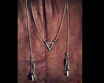 Wrap bullet necklace