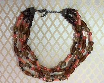 Choker style beaded necklace