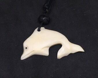 Dolphin Maori Necklace Chockers Shell Natural Tribal Boho Beach Style White