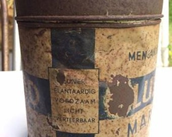 Old collectable tin of margarine