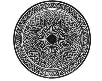 Safi Geo Plate, Black