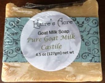 Pure Goat Milk Castile. Organic EV Olive Oil and Goat's Milk