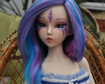 Nebula brushed yarn msd bjd wig
