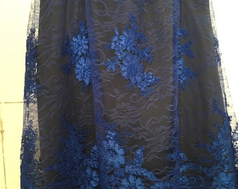 Skirt lace French Blue King/skirt lace royal blue