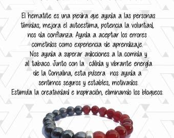 Bracelet carnelian and Hematite