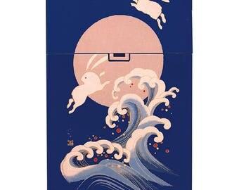 Handmade custom plastic cigarette case box with personalized stylish pattern any text message chic logo Japanese elegant vintage design