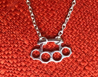 181/2inch Silver Knuckles Necklace J130