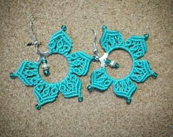 Bluesky Mandala Earrings
