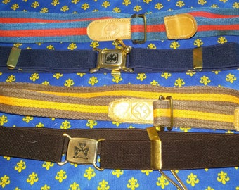 4 Vintage Girl Guides of Canada belts (A3)
