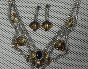 Czech 1930's Rhinestone Necklace