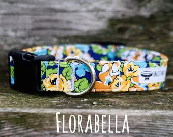 Dog Collar, Girl Dog Collar, Floral Dog Collar, Florabella