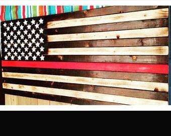 3 Ft American Flag (fire dept)