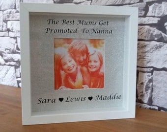 Best mums. Best nan, nanna, gran frame, personalised gift, personalised frame. Mothers days gift.