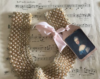 Antique edwardian imitation pearl collar ,necklace.