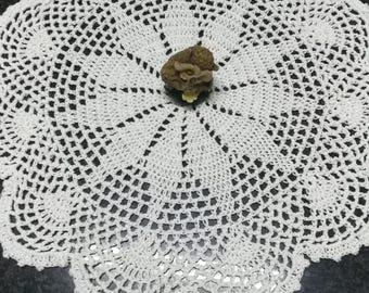 White crochet doily, cotton doily, doily flower, home decoration, home decor, doily crocheted