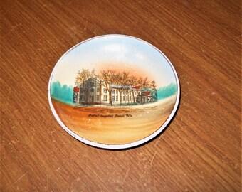 """Beloit Hospital Beloit WI Wheelock Germany Dresden For J.F. Ruch 4"""" Vintage Dish"""