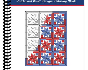 Patchwork Quilt Designs Coloring Book [SPIRAL BOUND] by Color & Create